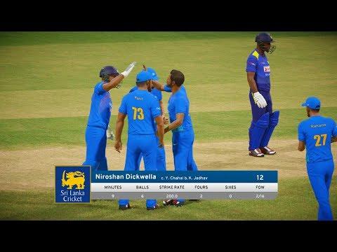 India vs Sri Lanka - T20 Match - Don Bradman Cricket 17