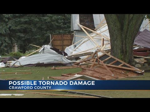 Tornado damages several homes in Crawford County, Ohio