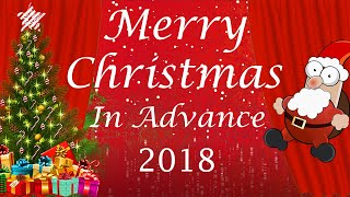 Merry christmas xmas 2018 in advance and happy new year 2019 wishes greetings
