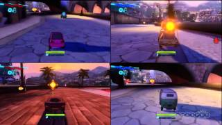 Cars 2 Multiplayer Gameplay - 4 players PS3 Xbox 360 PC wii DS