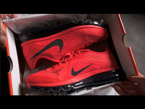 NIKE AIR MAX 2014 Running Shoe - Atomic Red Black Light Crimson - unboxing  & on feet review