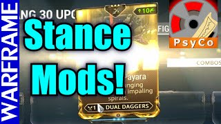 Stances 101! Quick Warframe Stance Mods Guide and Tutorial! Update 16.9.2 [1080HD]
