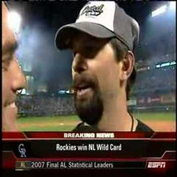"Todd Helton Interview, "". . . I have no idea"""