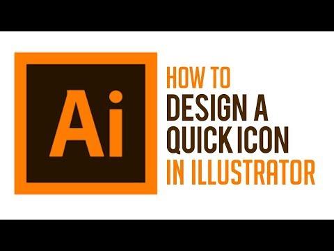 How to Design a quick icon in Adobe Illustrator Tutorial 10 English
