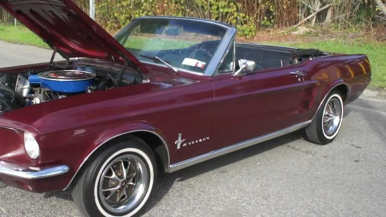 Worksheet. 1967 Mustang Convertible For Sale289AutomaticA Code 4 BBL  YouTube