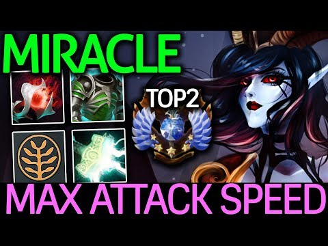 Miracle- Dota 2 [Queen of Pain] MAX ATTACK SPEED! Party Game