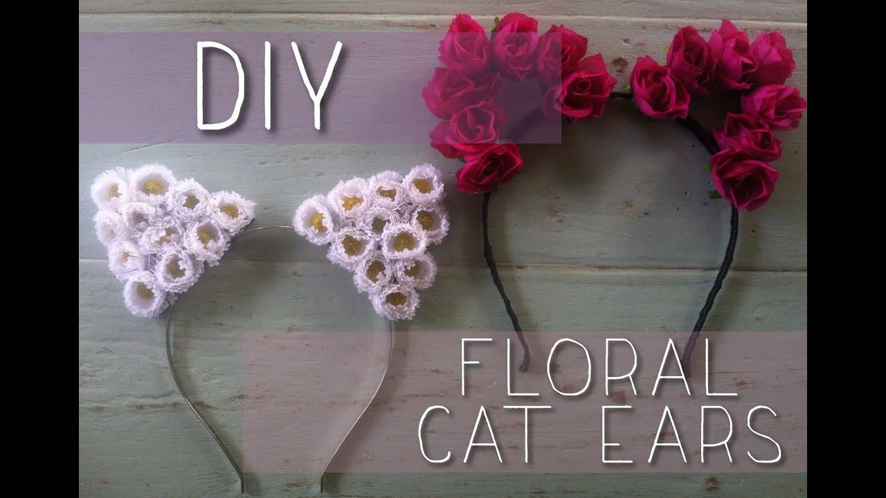 Diy Floral Cat Ears