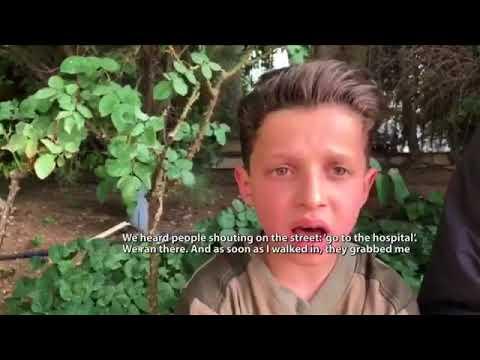 """Témoin 11-ans Syrien garçon Hassan Diab forcé à figurer vidéo """"attaque chimique alléguée"""" 18/04/2018"""