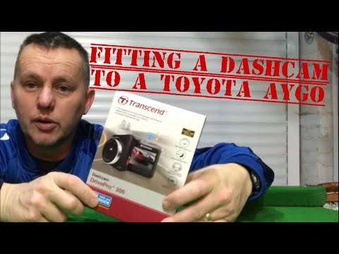 FITTING A DASH CAM & HIDING THE WIRES, To A Toyota AYGO, Same As Citroen C1 Peugeot 107, Trancend