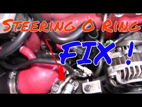 Subaru STi  power steering inlet O-ring install how-to DIY
