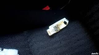 Замена лампочек в салоне авто