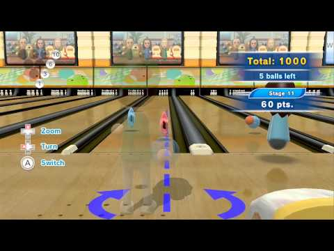 Wii Sports Club Bowling - Spare Pickups Training - 2850 Points (Platinum Medal)