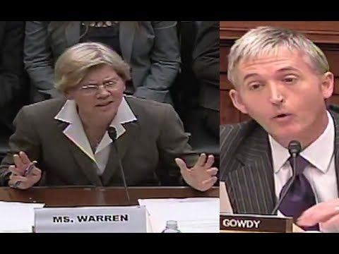 Trey Gowdy Overwhelms Elizabeth Warren with His Questions!