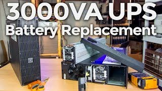 New Batteries for a 3000VA APC UPS - Battery Replacement and Testing(I just got a great eBay deal on an APC SURTA3000XL, which is a 3000VA 120V double conversion online UPS. It didn't come with batteries, and so in this video ..., 2016-02-14T04:27:53.000Z)