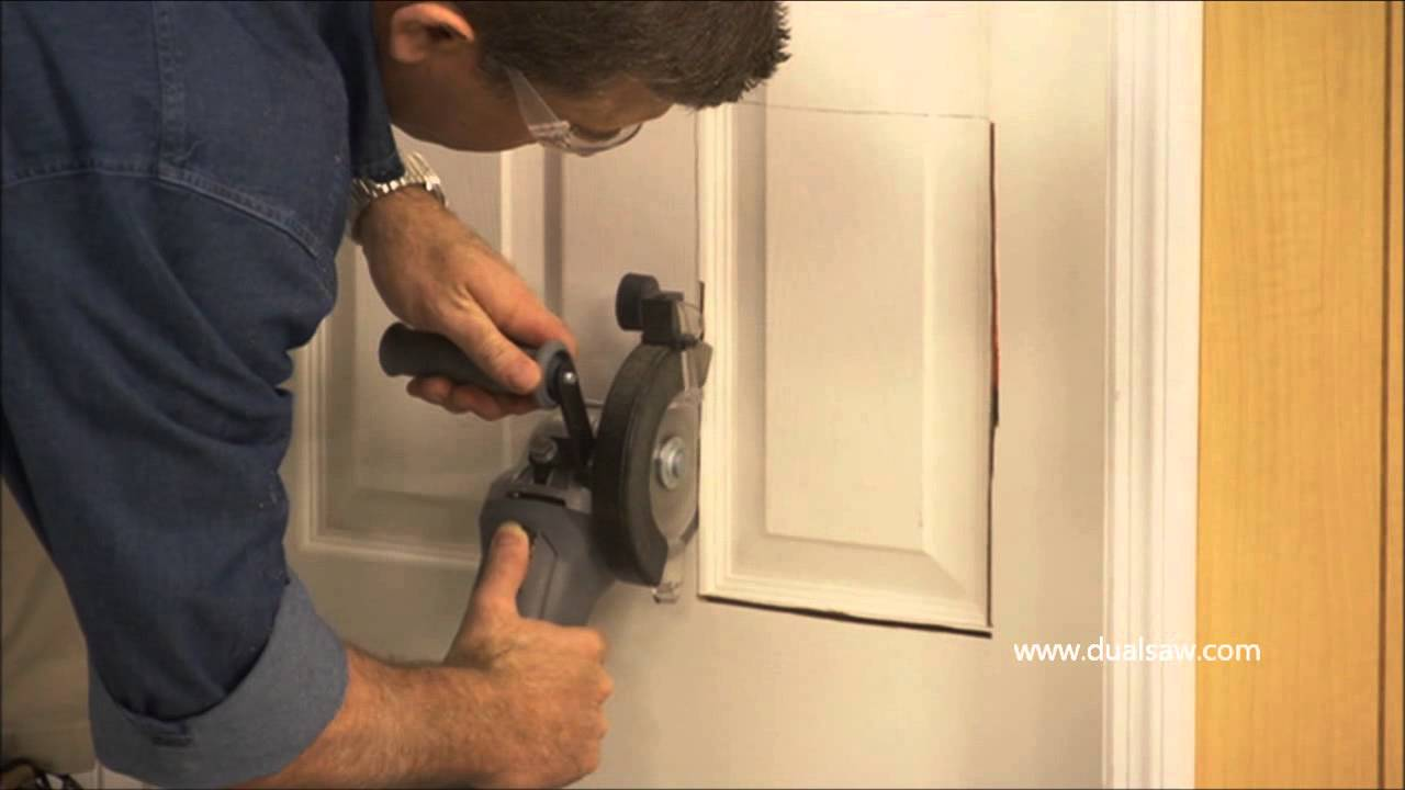 Dualsaw installing a pet door youtube - Interior door with pet door installed ...