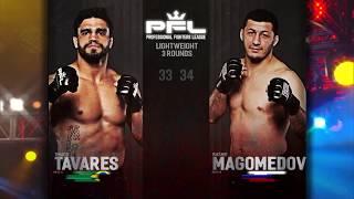 PFL Full Fight Friday: Rashid Magomedov vs. Thiago Tavares from PFL Playoffs: Long Beach