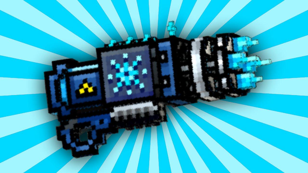 pixel gun 3d icicle minigun up2 review youtube