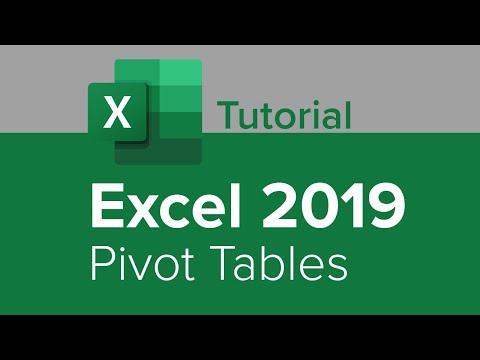 Excel 2019 Pivot