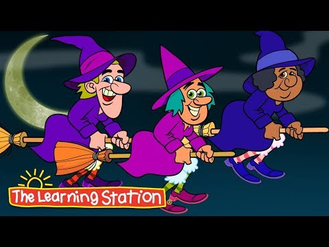 Three Little Witches  Halloween Songs for Kids  Scary Rhymes  Popular Halloween Songs for Kids