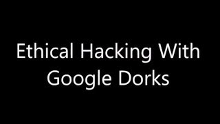 Gambar cover Ethical Hacking - Use Of 'Intitle' Dork - Tutorial 1