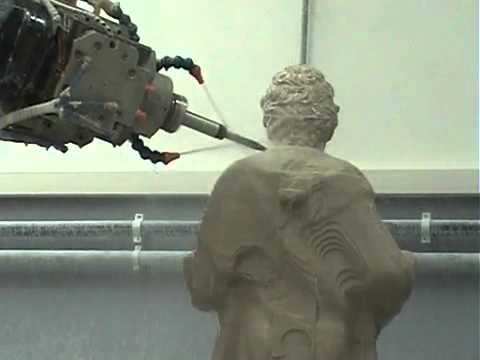 Robot Milling Stone Using 7 Axis Youtube