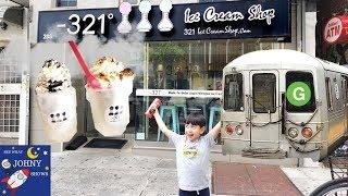 Johny's MTA Subway Train Ride To Ice Cream Shop In Williamsburg Brooklyn NYC