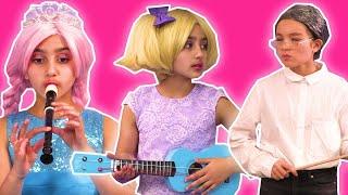 Music Class At Princess School 🎵 Mystery Instrument Appears! - Princesses In Real Life | Kiddyzuzaa