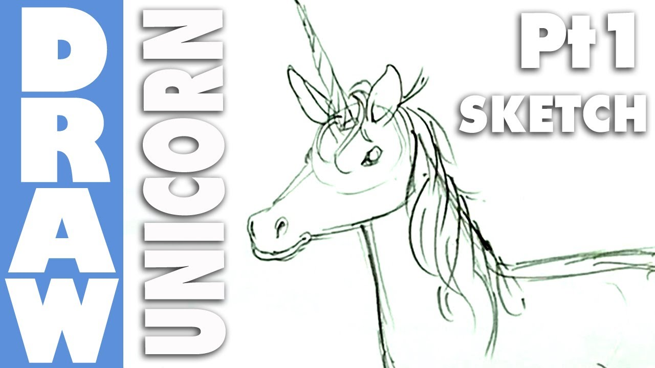 How to draw a unicorn part 1 pencil sketch