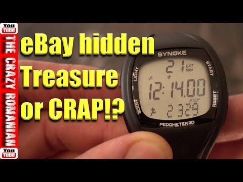 CHEAP EBay SYNOKE Wrist Watch Pedometer Product REVIEW