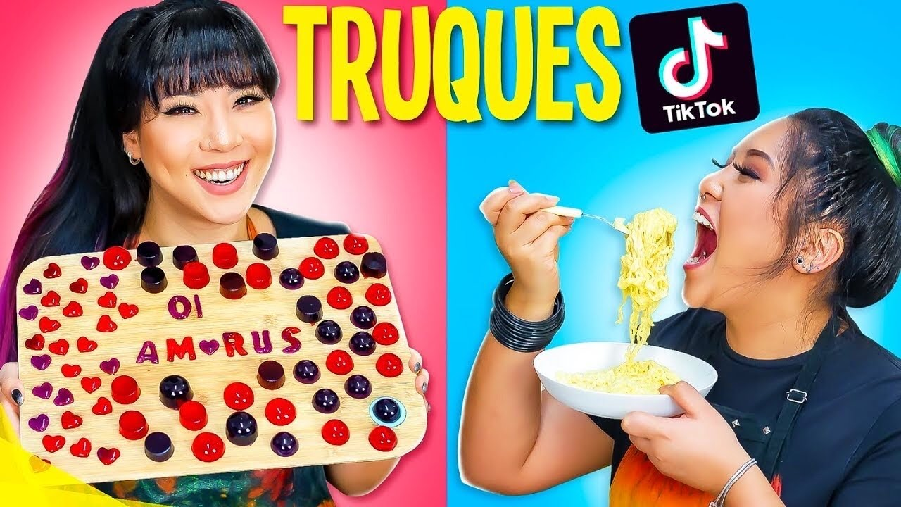 TESTANDO TRUQUES DE COMIDA DO TIK TOK!! FOOD HACKS!!