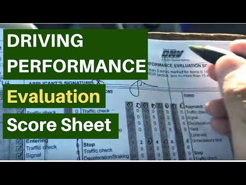 DMV Driving Performance Road Test