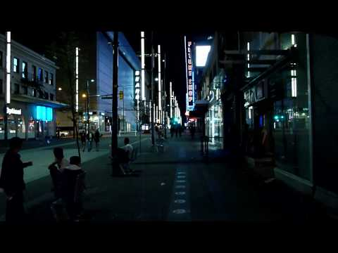 survive this - (Vancouver's Granville Street at night)