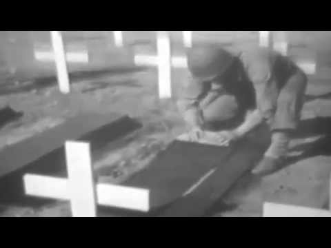 Iwo Jima Sorting Equipment Of Casualties; Burials, 03/15/1945 (full)