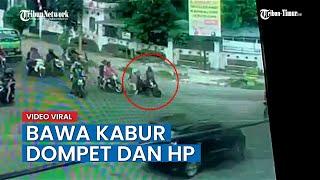Begal Sadis Beraksi Di Tengah Keramaian Kota Medan, Aksinya Terekam CCTV