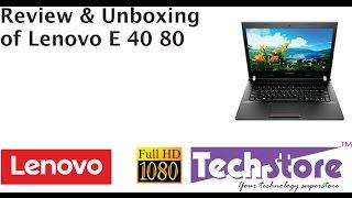 Lenovo E40 80 Review webcam speaker screen tested in full HD