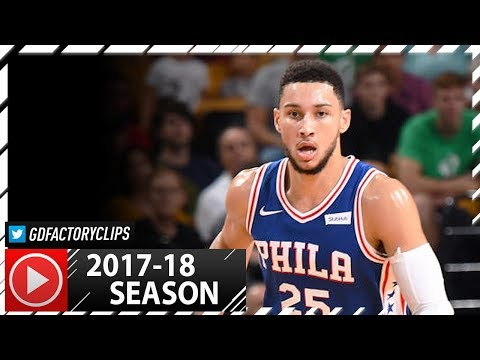 Ben Simmons Full PS Highlights vs Celtics (2017.10.09) - 15 Pts, 6 Reb