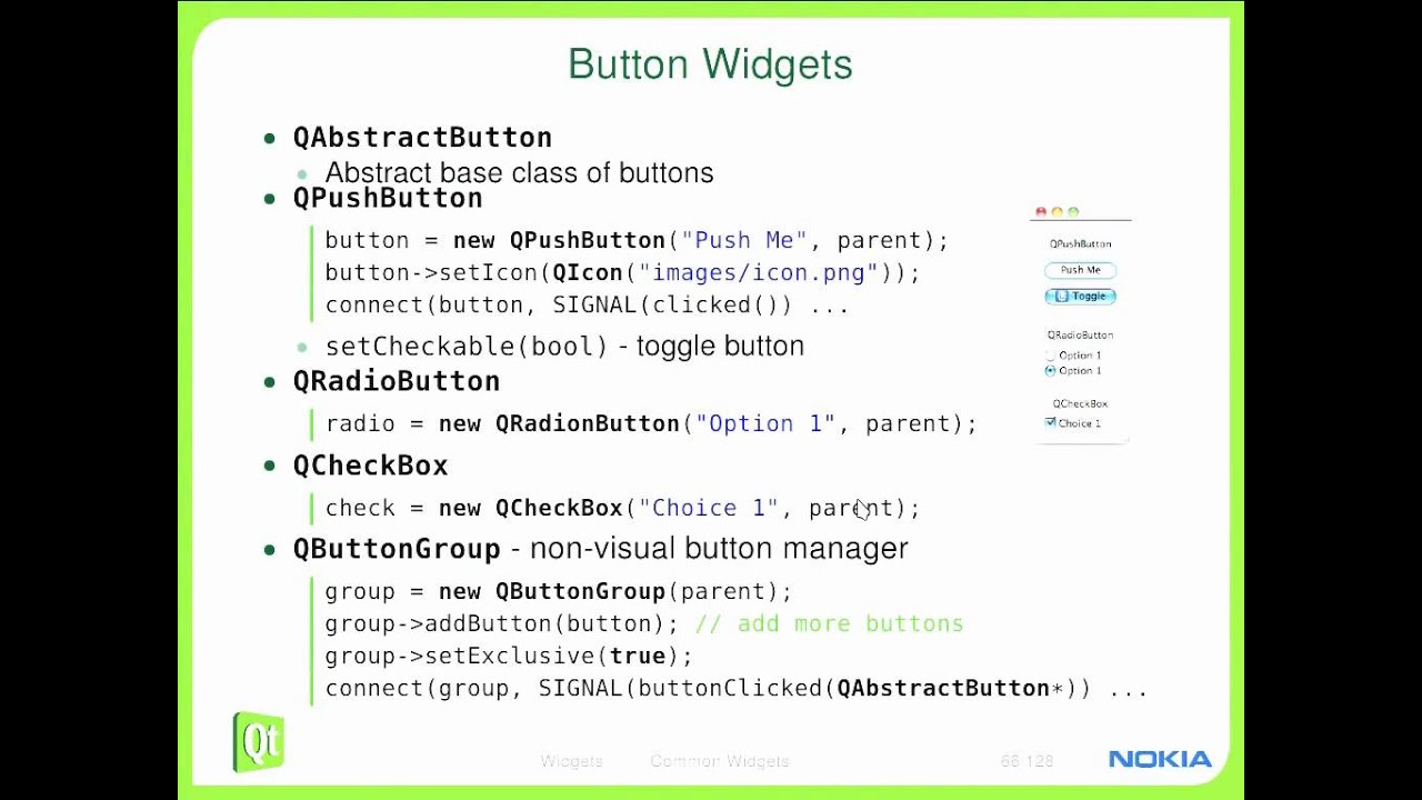 Qt Training: Widgets (part 1/3): Common Widgets: Torsten Rahn by basysKom