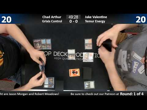 Standard w/ Commentary 7/26/17: Chad Arthur (Grixis Control) vs. Jake Valentine (Temur Energy)