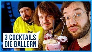 3 MÄNNLICHE Cocktails die BALLERN! (mit Sturmwaffel)