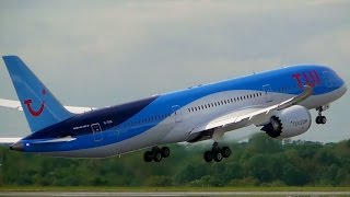 The newest addition to thomson/tui uk fleet g-tuik, which was delivered a day before recording this video, is seen here departing runway 23r on it's 3rd ...