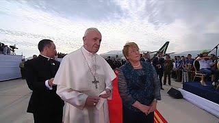 Papst auf heikler Mission in Südamerika