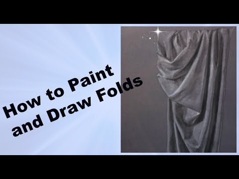 How to Paint and Draw Realistic Folds and Drapery Tutorial