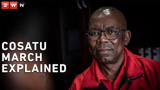 Eyewitness News reporter Theto Mahlakoana sat down with Cosatu general secretary Bheki Ntshalintshali ahead of the labour union's national strike. Here they discuss why Cosatu decided on the protest.   #Cosatu #NationalMarch