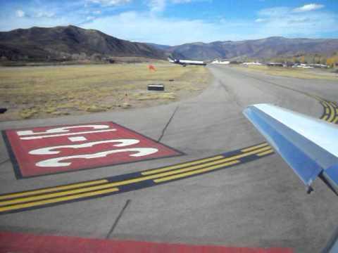 Aspen Colorado Private Jet Take-off Falcon 2000