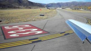 Aspen Colorado Private Jet Take-off Falcon 2000