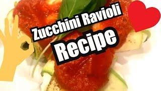 How to make Zucchini Ravioli - Zavioli - Clean Eating - Recipes - Cooking - Easy - Healthy