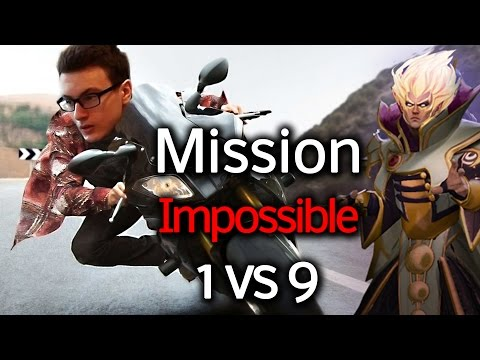 Miracle- Dota 2 [Invoker] Mission : Impossible 1 vs 9