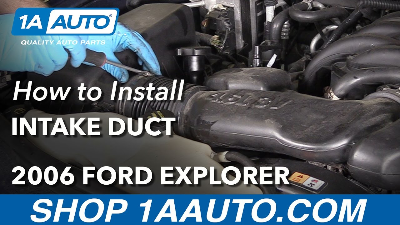 how to replace intake duct 06 10 ford explorer [ 1280 x 720 Pixel ]
