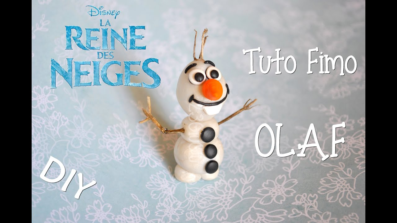 Tuto fimo olaf la reine des neiges youtube - Reine des neiges olaf ...