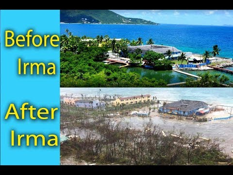 tortola british virgin islands before and after hurricane irma category 5 hurricane in